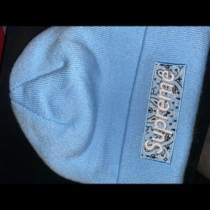 Supreme New Era Box Logo Beanie (FW19) Light Blue